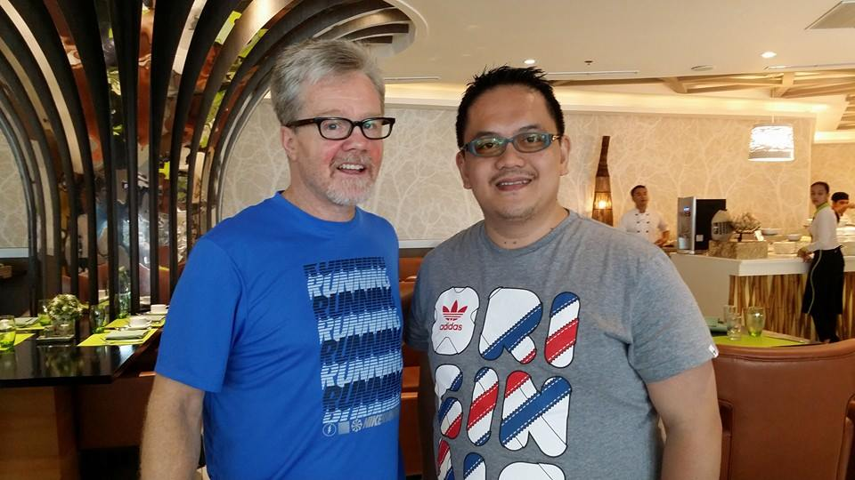 Freddie Roach with Sir Vince